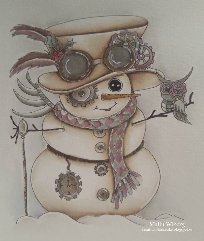 Img781 Steampunk Snowman Besties Digi Stamp
