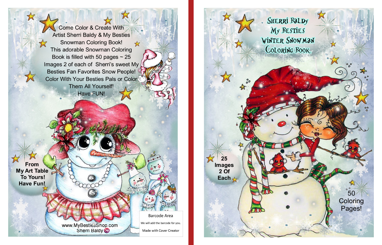 coloring books signed copies by the artist sherri baldy my