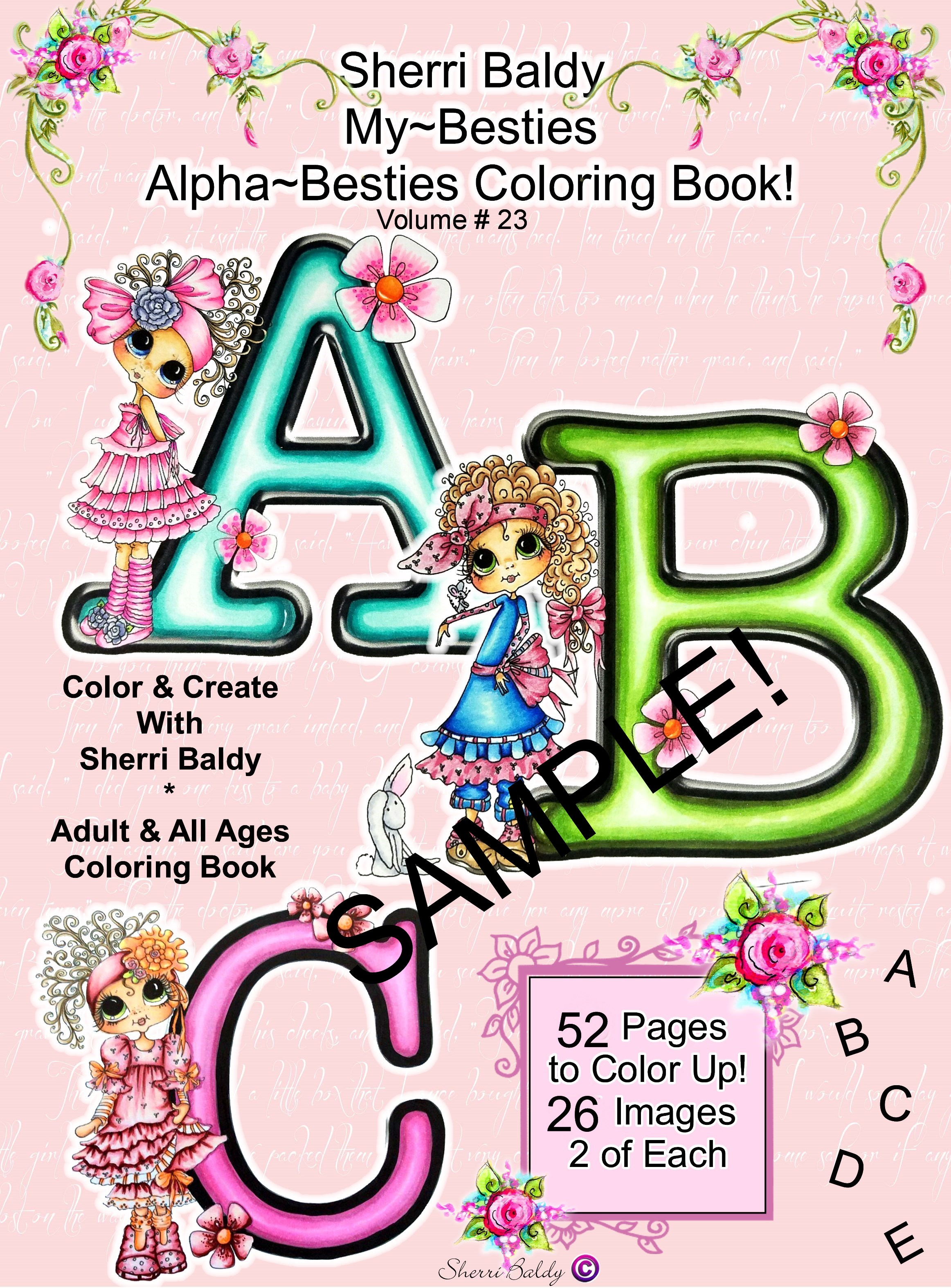 Digital Download PDF Coloring Books By The Artist Sherri Baldy My