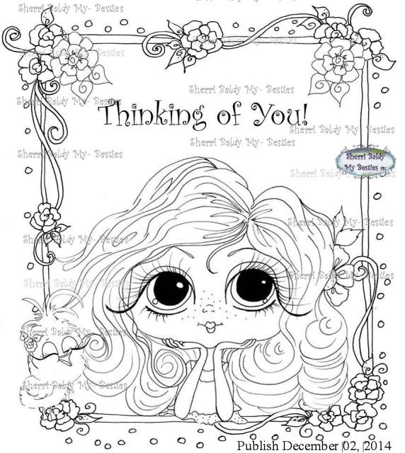 Instant Download My Besties ~ COLORING BOOK PRINTABLE PAGE that you ...